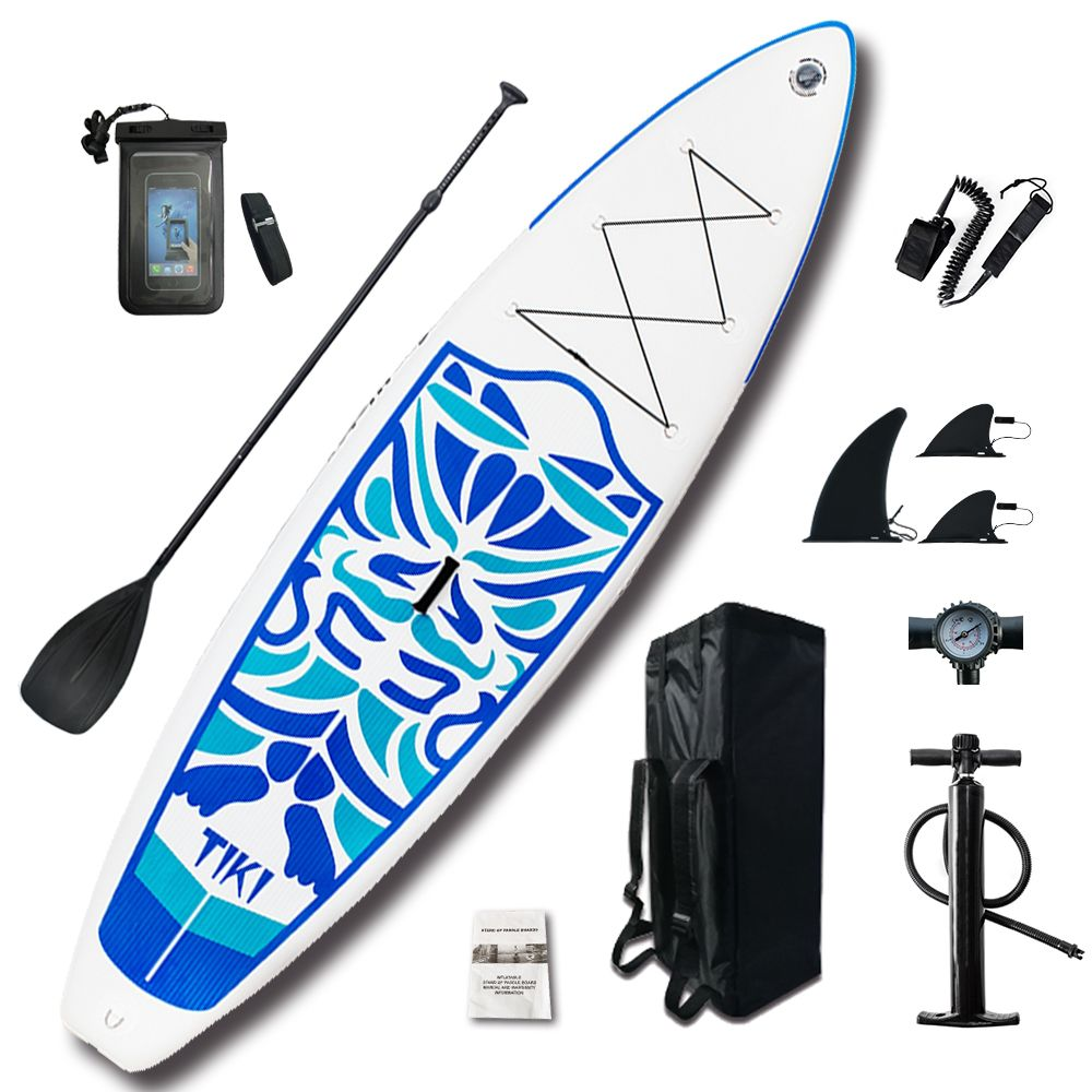 Aufblasbare Stand Up Paddle Board Sup-Board Surfbrett Kajak Surf set 10'6 x33''x6''with Rucksack, leine, pumpe, wasserdichte tasche