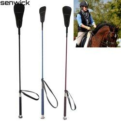 2019 New 65CM Riding Crops Horse Leather Horsewhip Horse Racing Equestrian Supplies Knight Equipment Black Red Free Shipping