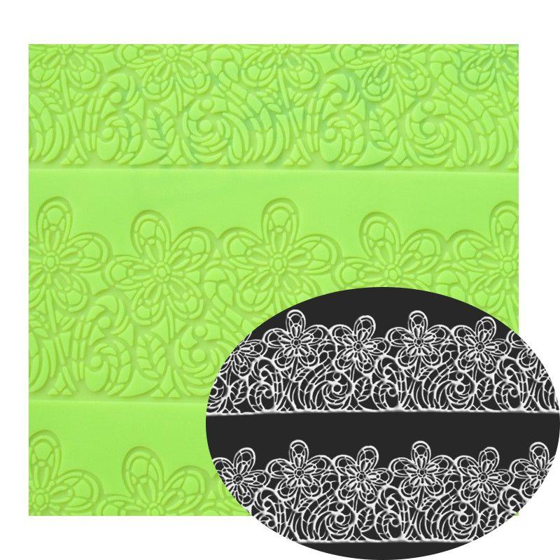 39*29 CM grande taille fleur gâteau lcae moule décoration Fondant Silicone moule sucre dentelle tapis gaufrage tapis roulant