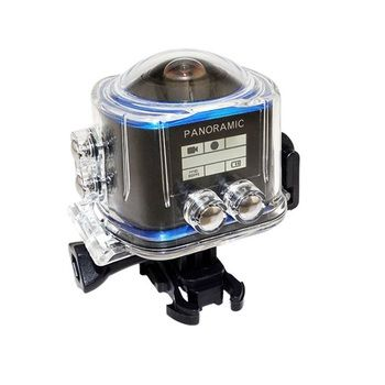 360 Panoramic Action Camera Wide Angle WiFi Waterproof Camera 2448*2448 /30fps Full HD Cam 16MP VR Camera