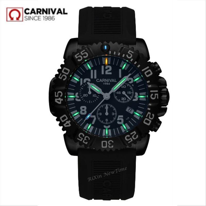 2018 Chronograph T25 Tritium Luminous stop watch men luxury brand switzerland Ronda quartz men watches sports clock uhren montre