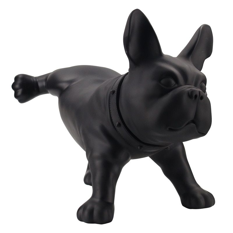 Modern creative French bulldog dog sculpture PE plastic pet dog statue cute animal foo dog figurine Home Decorations Handicrafts