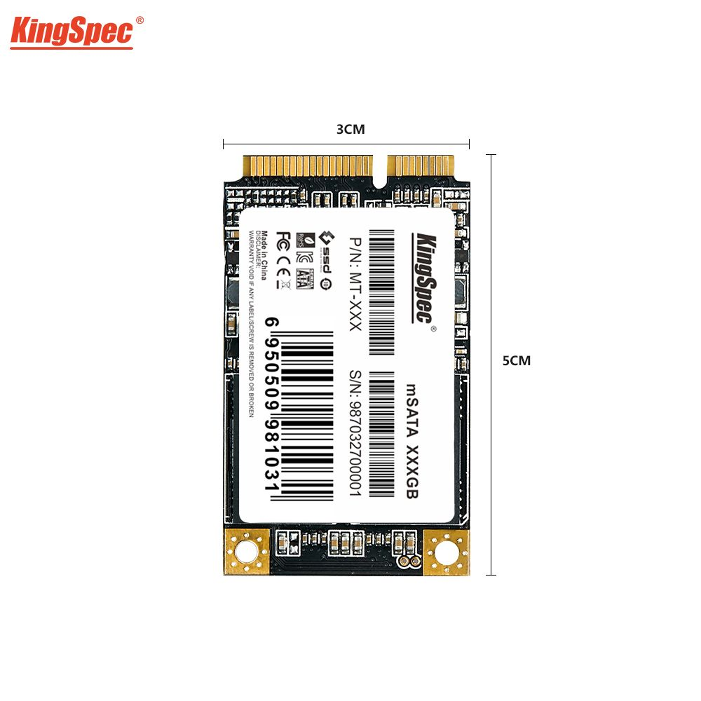 KingSpec mSATA SSD 120gb 256GB 512GB Mini SATA SSD mSATA SSD 1 to disque dur interne pour ordinateur portable SSD pour Dell ThinkPad