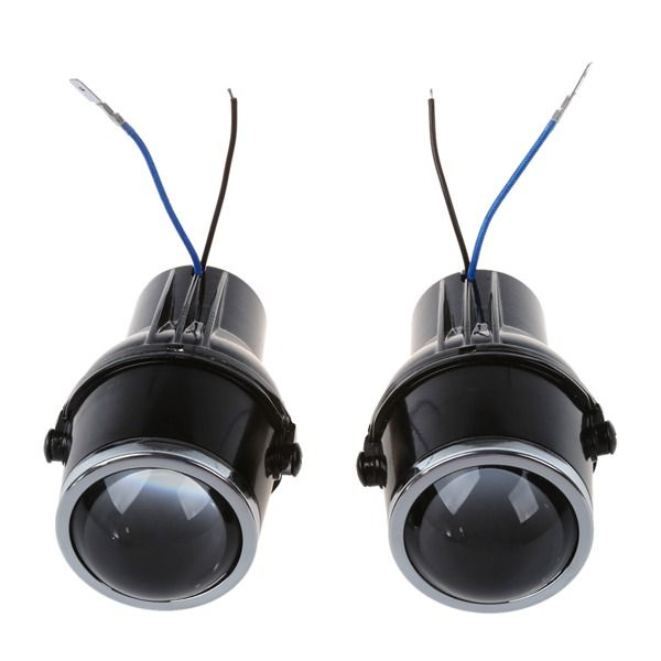 2Pcs metal car headLight projector Fog light lens 55W H3 Universal HID Xenon clear Halogen Fog Light Bulb Lamp H3 halogen bulbs