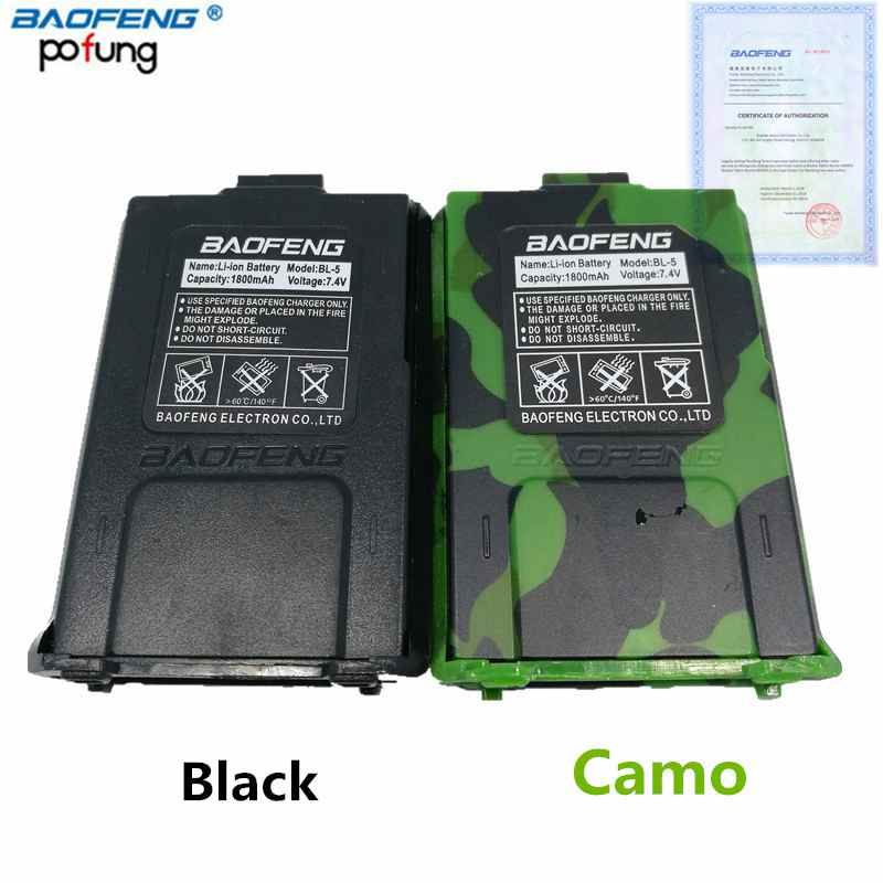D'origine Baofeng UV-5R BL-5 7.4 v 1800 mah Li-Ion Batterie Pour Baofeng UV-5RE BF-F8HP Talkie Walkie Accessoires UV5R Deux Façon radio