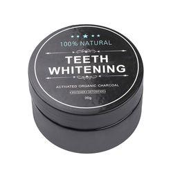 30g de bambú negro de carbón activado polvo dental higiene bucal dientes de limpieza blanqueamiento manchas Tartar Removal diente blanco