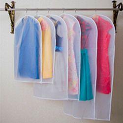 Transparan Lemari Penyimpanan Casing Kain Gantung Pakaian Gaun Pakaian Perapi Cover Mantel Debu Selimut Rumah Zipper Pelindung