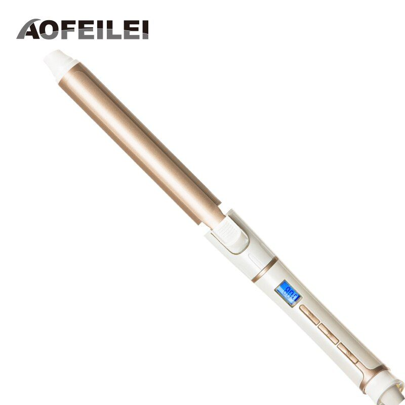 Ceramic Electric Hair <font><b>Waves</b></font> Curling Iron Digital AOFEILEI Professional Perfect Hair Curler Roller Wand Styler Styling Tools