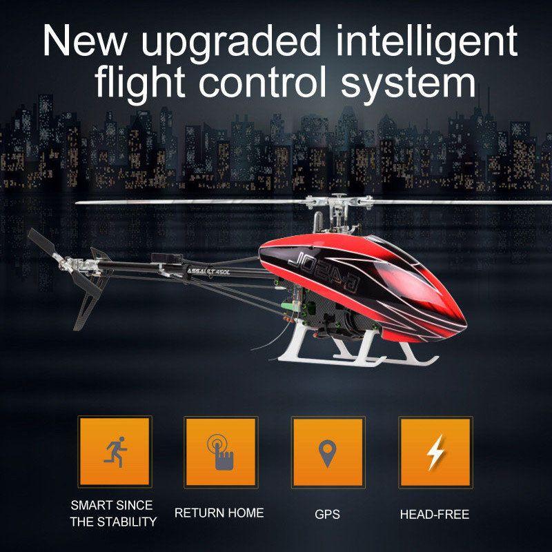 JCZK 6CH Smart 450L RC Hubschrauber RTF Hubschrauber GPS Bürstenlosen Flugzeug AT9S 6CH Einzelnen Propeller Aileronless Drone Modell Spielzeug