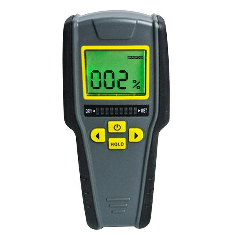 4-in-1 Non-Invasive Inductive Moisture Digital Meter for Drywall Masonry Softwood and Hardwood