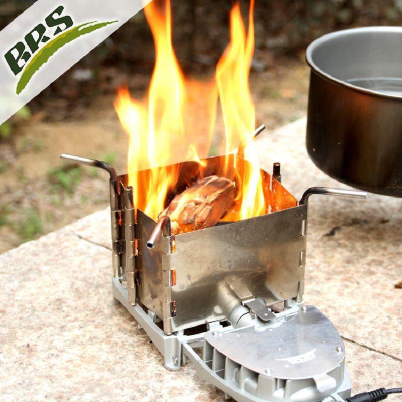 BRS Ultraleicht Holzofen Tragbare Falten Freien Camping Wandern Kochen Picknick Brennholz Herd mit gebläse brs-116