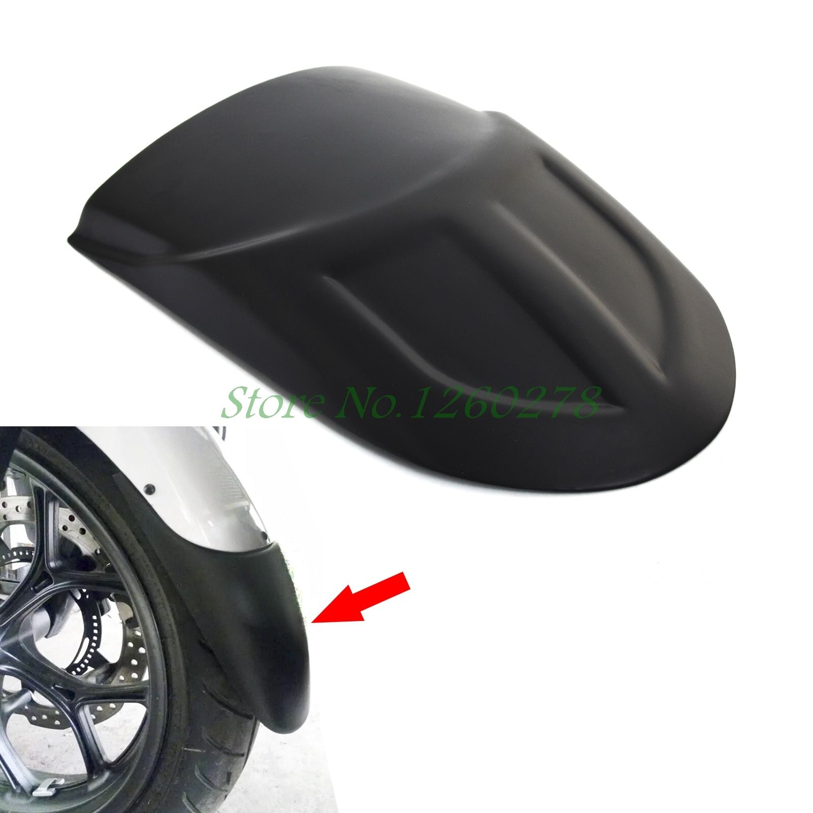 Motorcycle Front Fender Extension Extender For Kawasaki Versys 1000 Versys 650 KLE650 2010 2011 2012 2013 2014 2015 2016 2017
