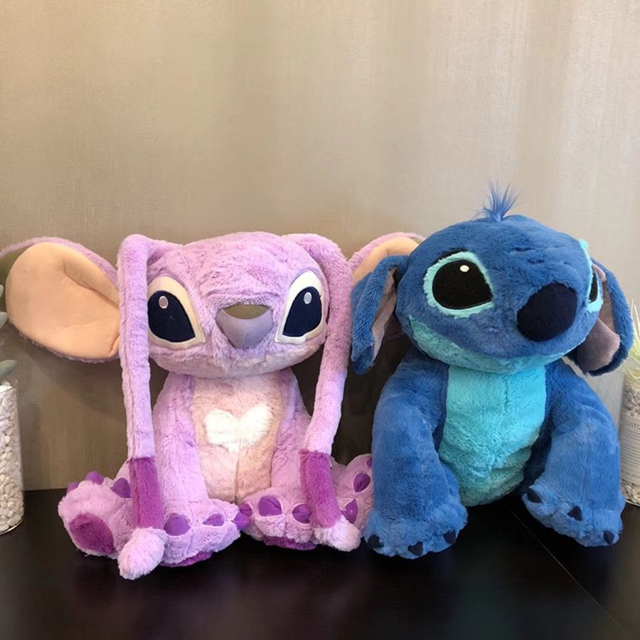 1pcs 38cm=15inch Kawaii Stitch and Angel Plush Doll Lilo and Stitch Plush Toys for Children Kids Birthday Gift Baby Kids Toys