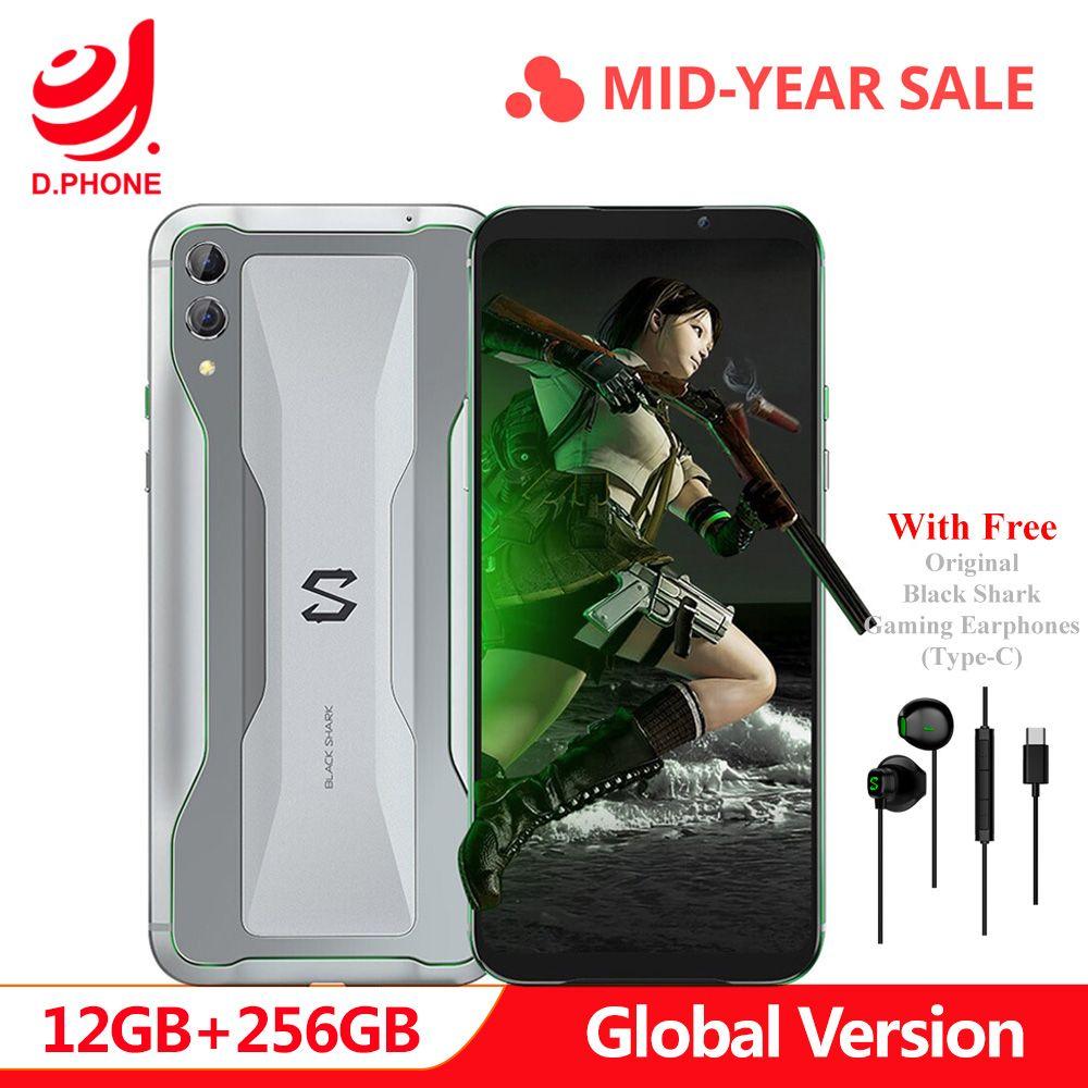 Ursprüngliche Globale Version Xiaomi Schwarz Shark 2 12 GB 256 GB Gaming Telefon Snapdragon 855 Octa Core 6,39