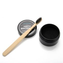 Whitening Tooth Powder Bamboo Charcoal Toothpaste Whitening Tooth Powder Toothbrush Oral Hygiene Cleaning Set FM88