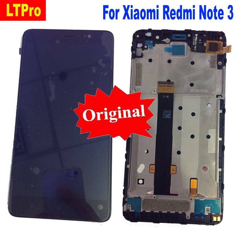 LTPro 100% Original Best Working LCD Display Touch Screen Digitizer Assembly with Frame For Xiaomi Redmi Note 3 150MM Phone Size