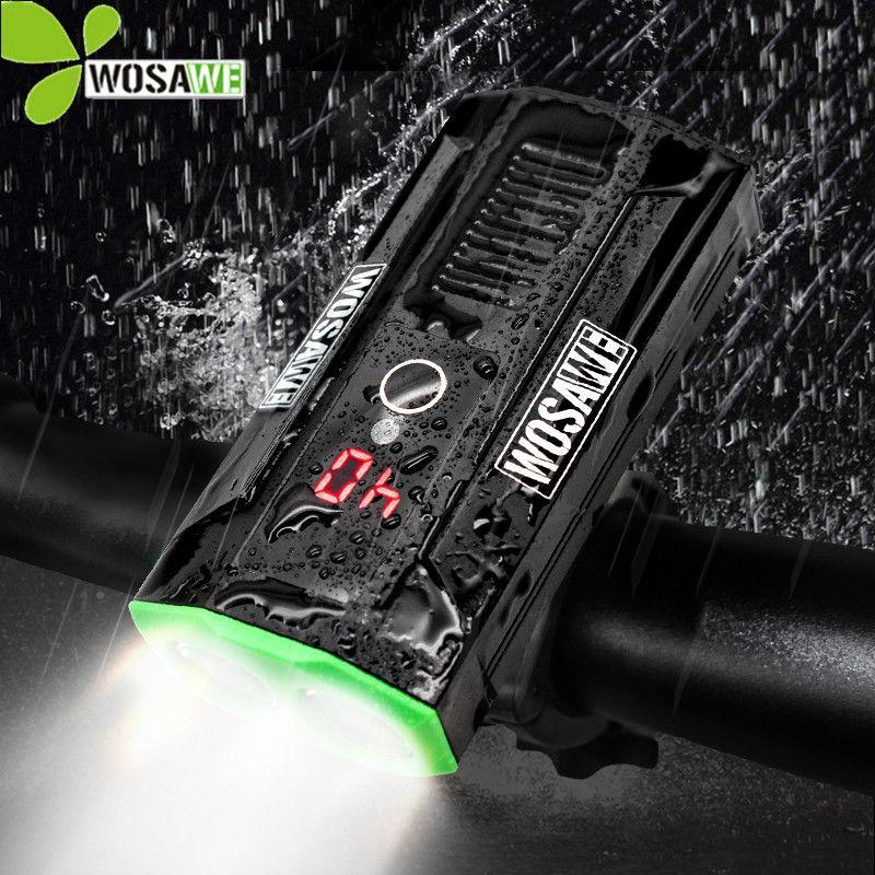 WOSAWE Super lumineux intégré batterie vélo lumière vélo phares batterie externe LED étanche USB Rechargeable vélo lampe de poche