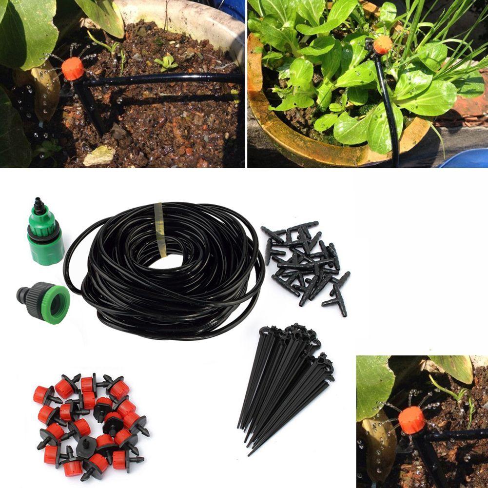 Kit d'irrigation goutte à goutte Micro 5 M/15 M/25 M plantes système d'arrosage de jardin Kits de tuyau d'arrosage connecteur goutte à goutte réglable
