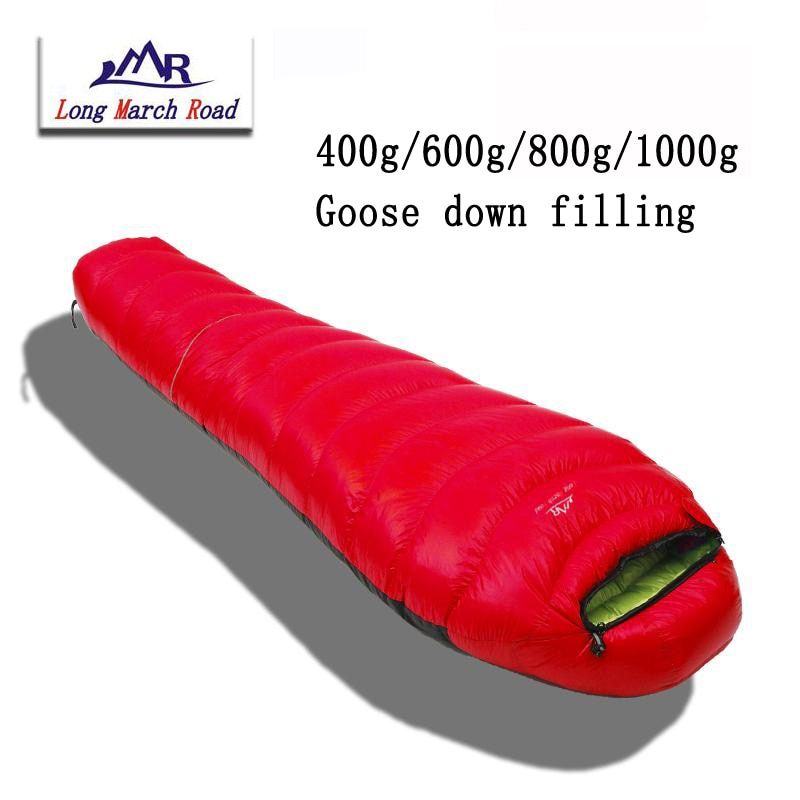 LMR ultraléger peut être épissé remplissage 400g/600g/800g/1000g sac de couchage en duvet d'oie blanche