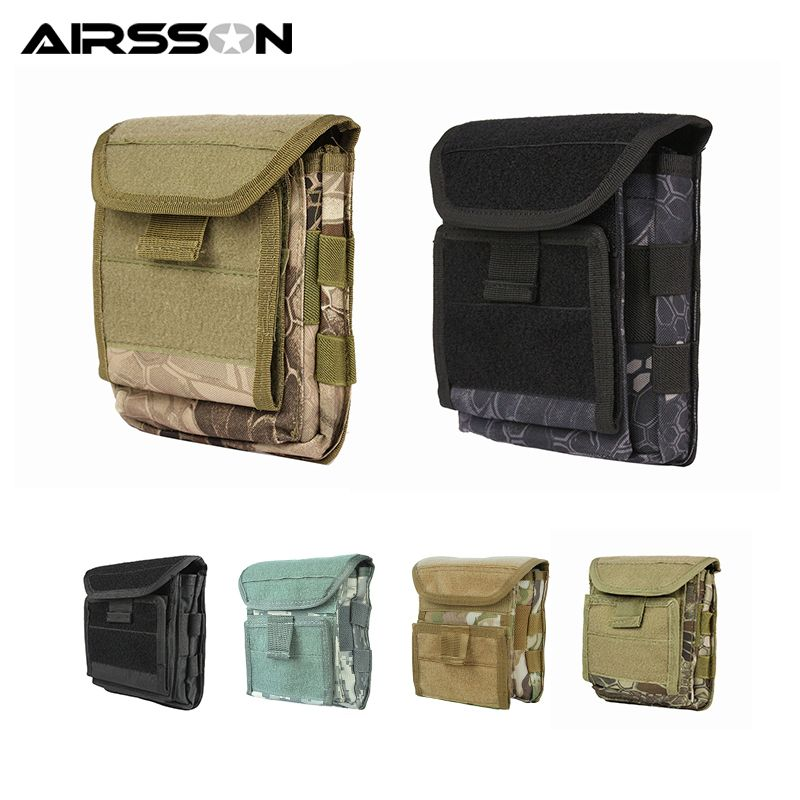 Muti-functional 1000D Molle Admin Magazine Storage Tactical Pouch For Air Gun Pistol Holster Bag For Men Outdoor Hunting Sports