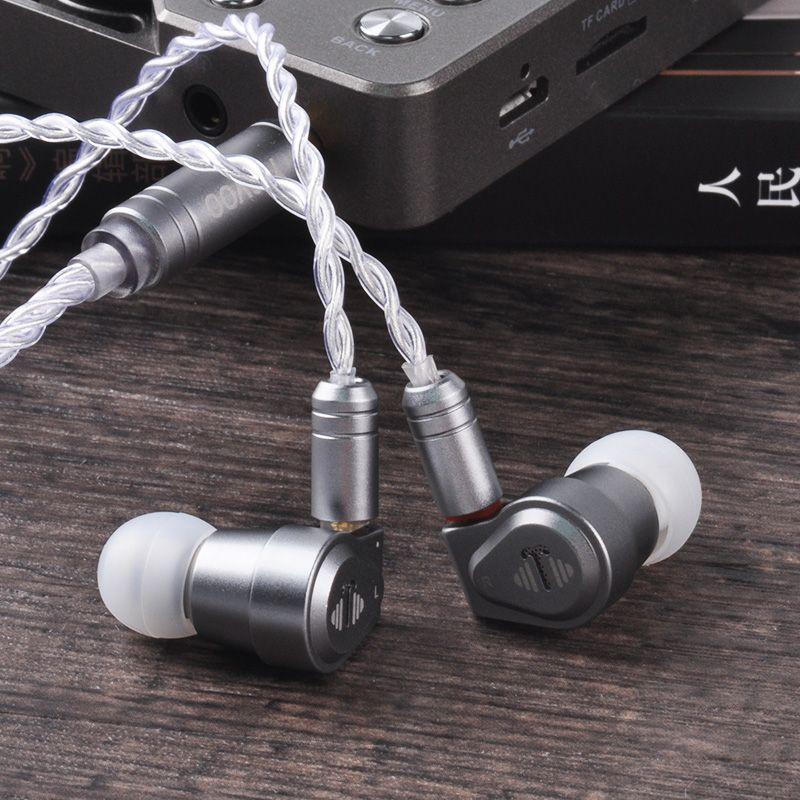 Yinyoo V2 Version 3 (réglage Final) haut de gamme USA importation double diaphragme 1DD pilote dynamique dans l'oreille écouteur HIFI écouteurs