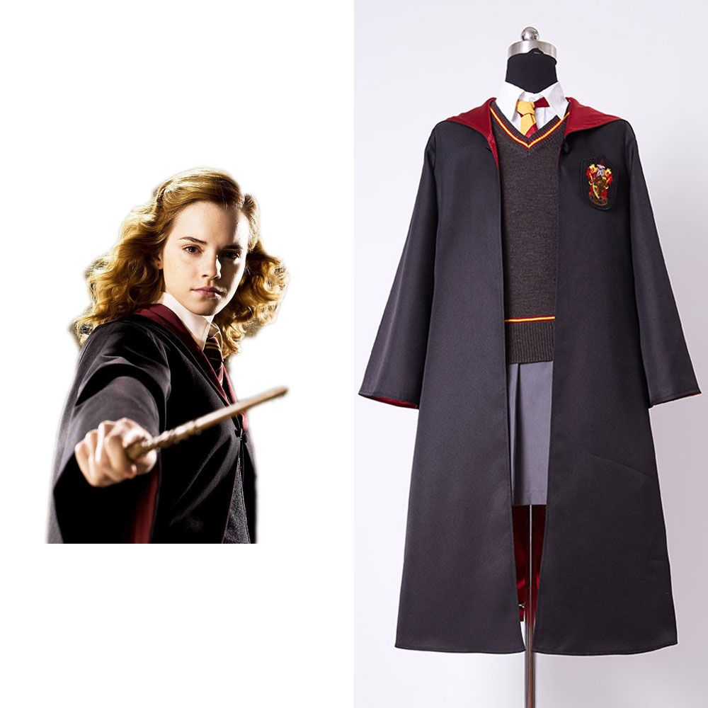 Erwachsene Version Gryffindor Original Uniform Hermine Granger Cosplay Kostüm Frauen Version Baumwolle Halloween Party New Geschenke