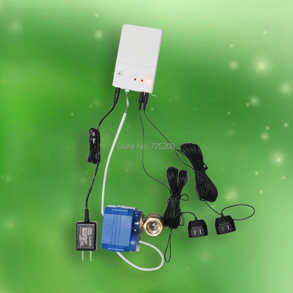 Waterpipe Water Leak Alarm Detector with 2pcs 1/2