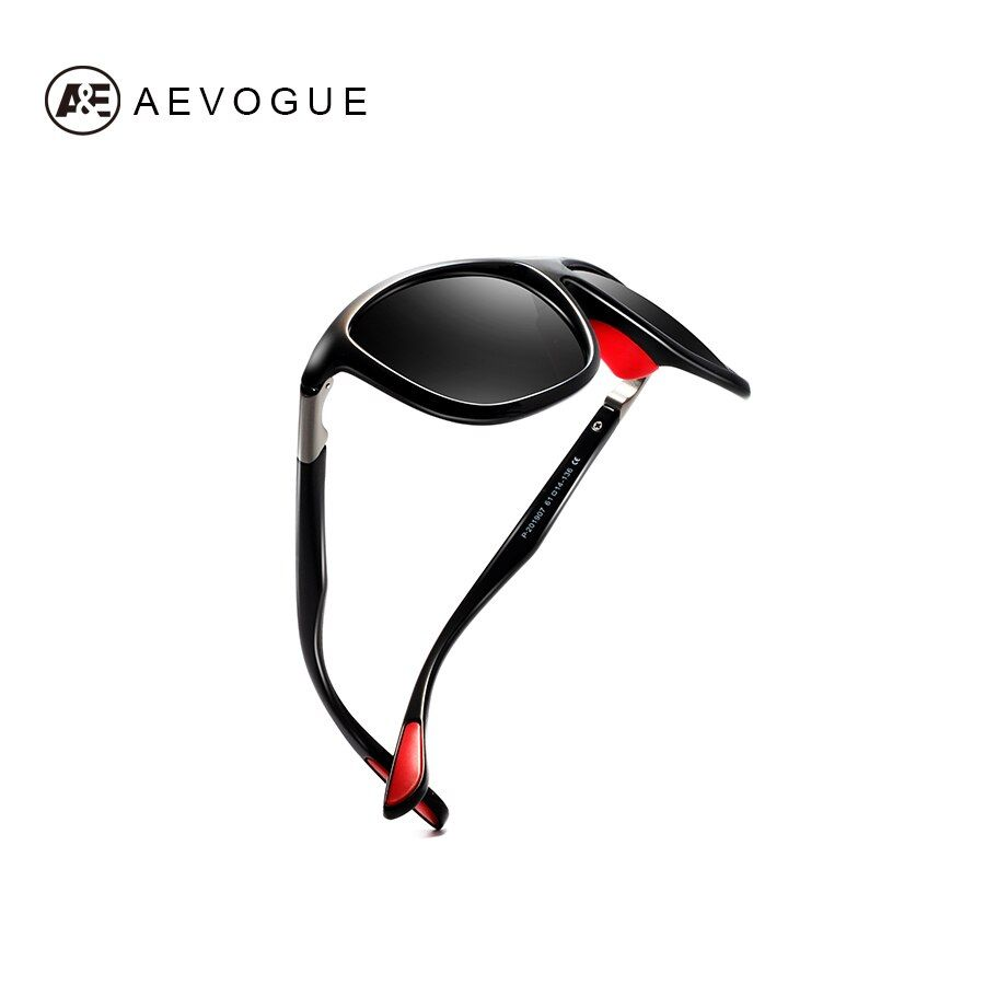 AEVOGUE Polarized Sunglasses Men Fashion Drive Shades Oversized Brand Designer Goggles Unisex Gafas De Sol Male Red UV400 AE0611