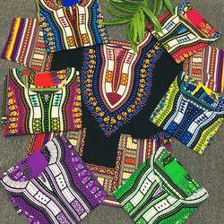 Ropa africana tradicional para las mujeres unisex clásico naranja algodón dashiki Tops más la blusa de la impresión del verano del tamaño