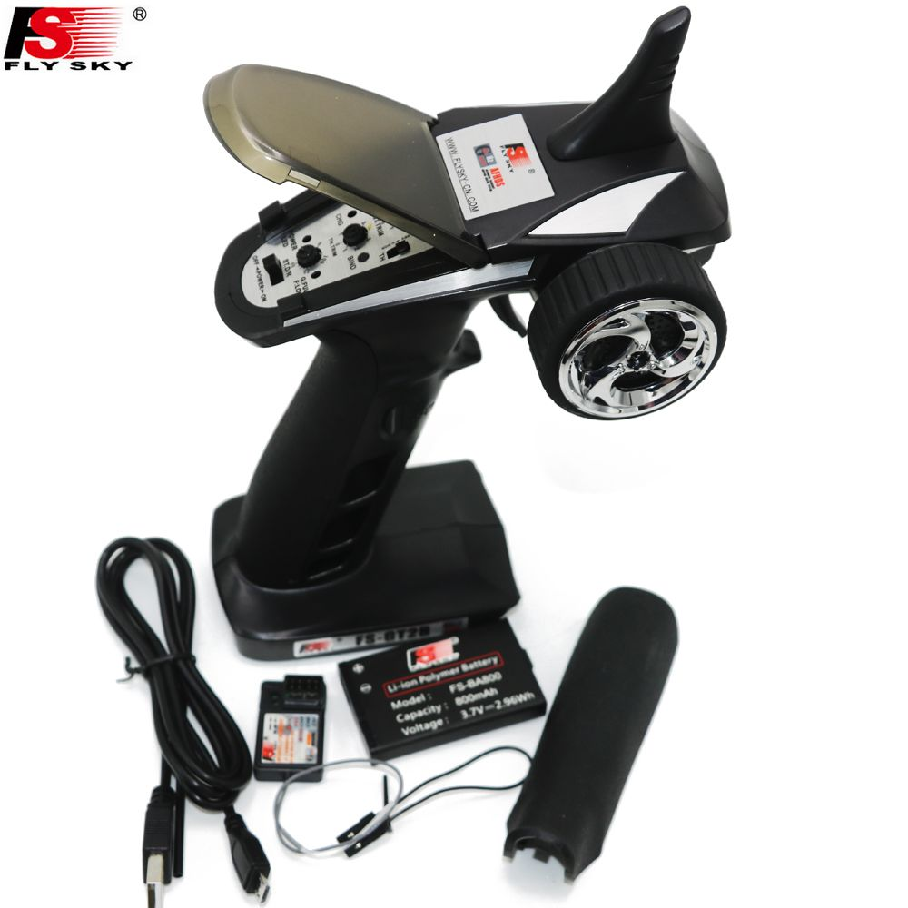 FS-GT2B FS GT2B 2.4G 3CH Gun RC Controller /w receiver, TX battery, USB cable, handle --Upgraded FS-GT2 GT2