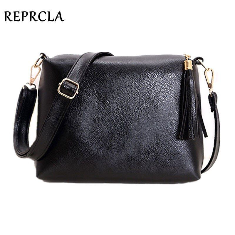 REPRCLA marque de mode designer femmes sac en cuir souple frange sac à bandoulière épaule femmes messenger sacs couleur bonbon A866