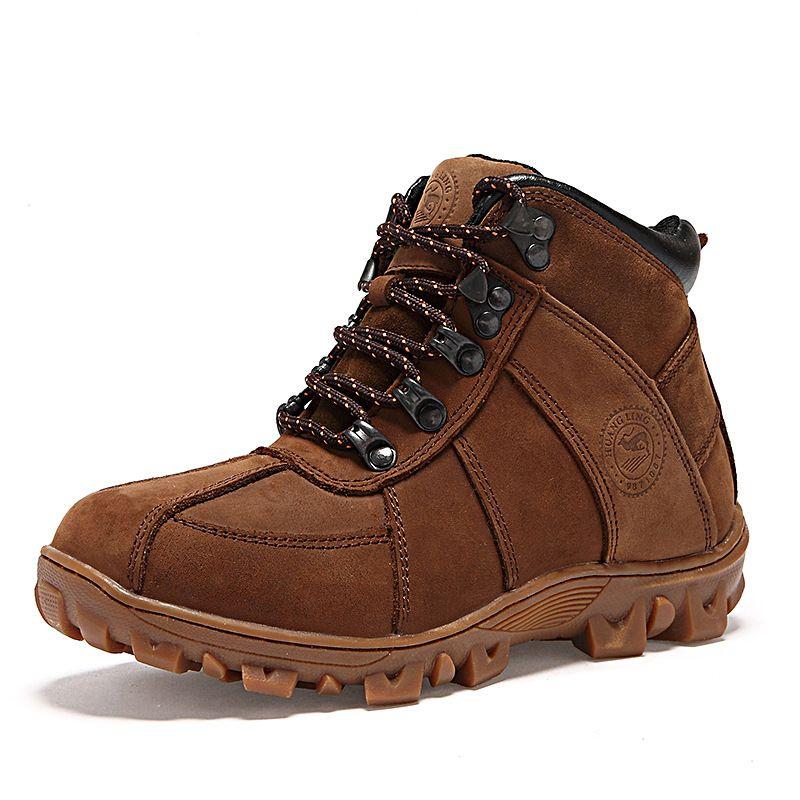Botas de Nieve Para Niños Botas de Tobillo con cordones de Cuero genuino Niños zapatos de Alta Calidad Superior de la Felpa Gruesa Masculina Calzado Chicas Nuevas zapato