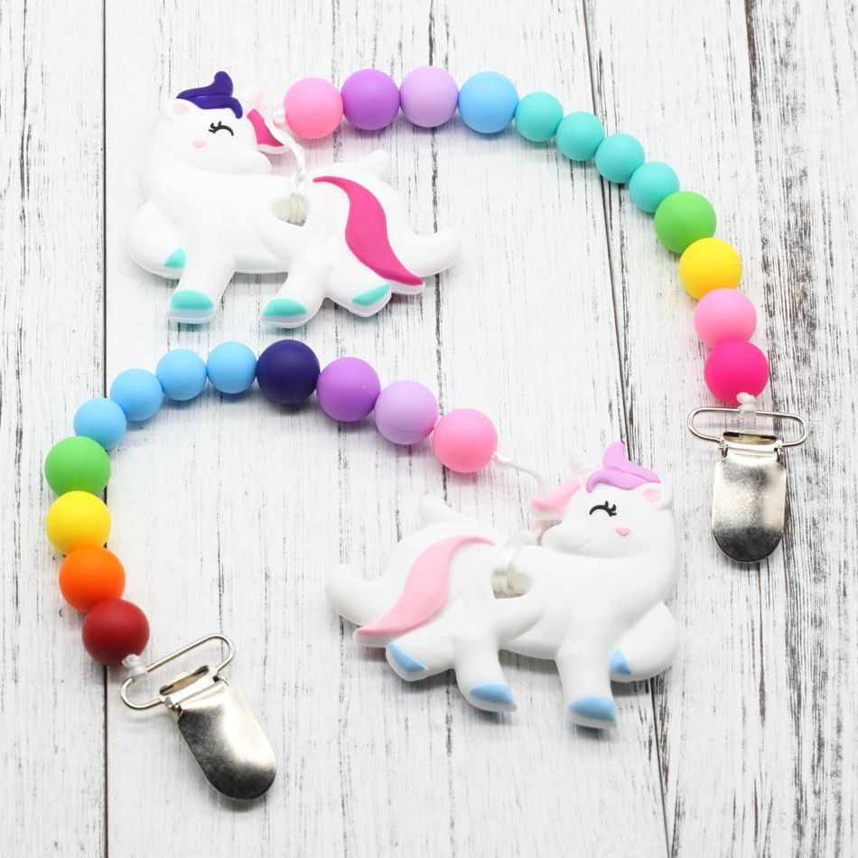 GLJ.CY BABY Teething Toy Baby Shower Gift Teether Clip on Teether New Baby Gift for New Mom Baby nipple chain