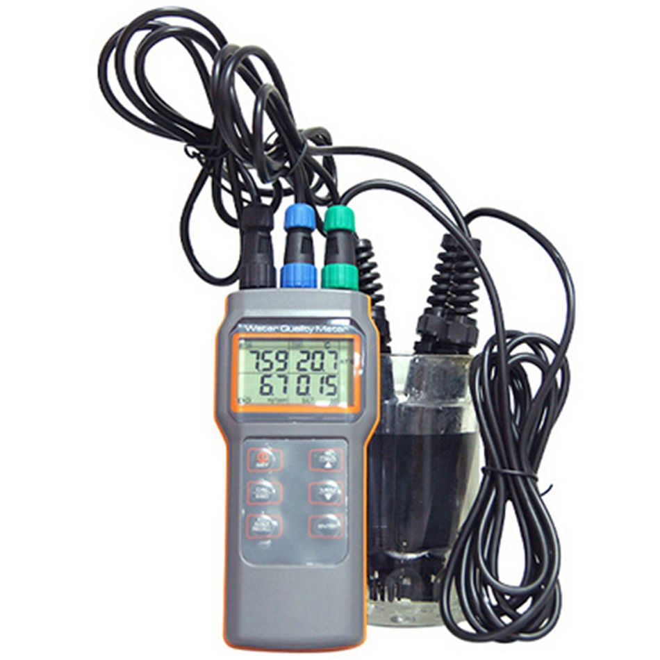 AZ8603 Digital Water Quality Meter Dissolved Oxygen Tester PH Meter PH Conductivit Salinity Temperature Meter with PH Meter