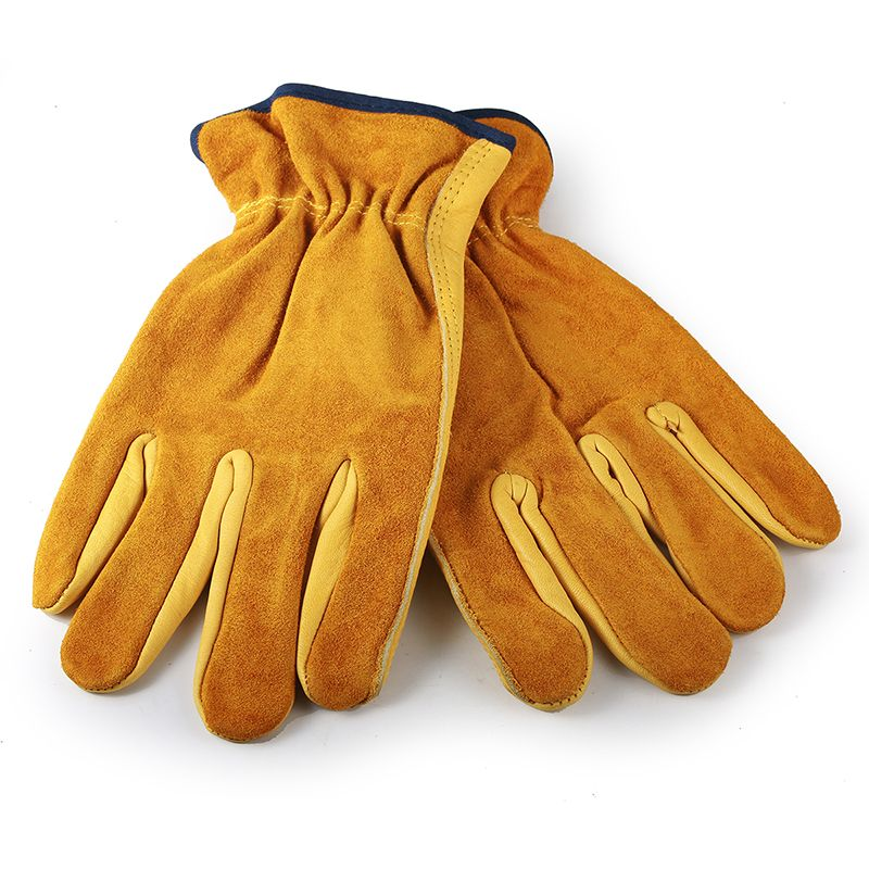 ZK20 Men's Female Work Working Gloves Cowhide Driver Security Protection Wear Safety Workers Welding Moto motorcycle Gloves