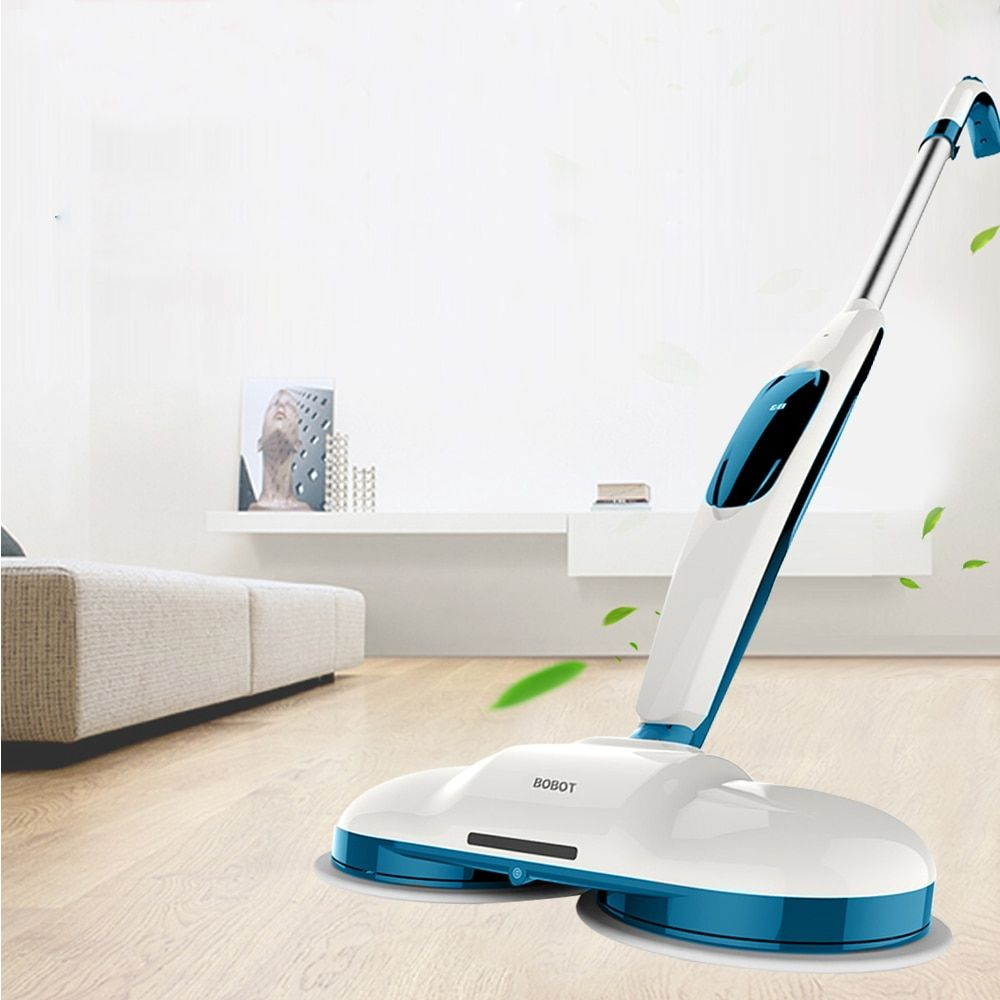 BOBOT MOP520 Cordless Electric Floor Mops Sweeper Hand Push Sweeping Robot Cleaning Mop Machine LED Lamp + 60dB Low Noise