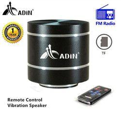 Smart Resonance Vibration Speaker Adin Remote Control Mini Portable FM Radio Speaker Subwoofer Small Bass HIFI Metal TF Speaker