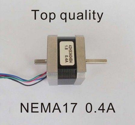 2pcs/lot NEMA17 Dual shaft Step Motor with 28N.cm 39 oz-in 34mm CE ROHS Nema17 Stepper CNC Laser Grind Plasma Cut