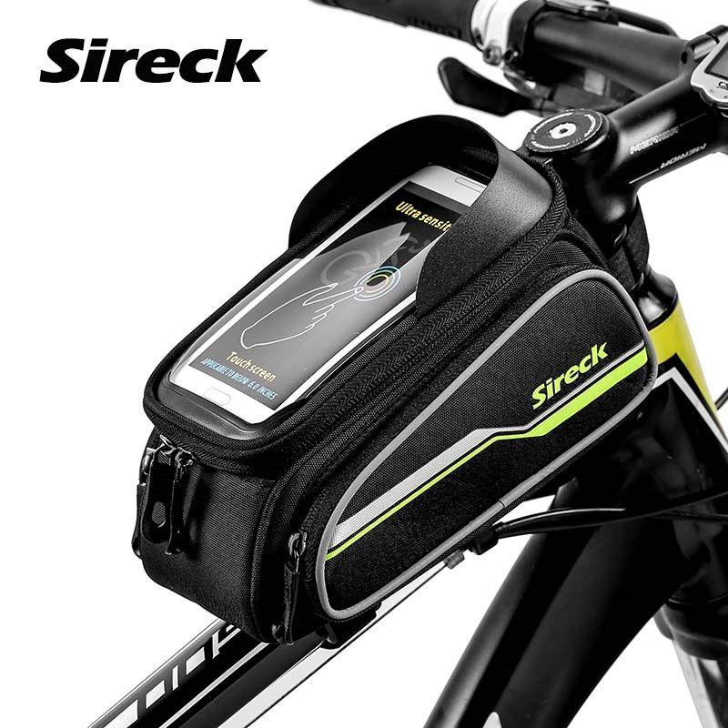 Sireck VTT Route Vélo Sac Vtt 6 Pouce Avant cadre Cas de Téléphone Écran Tactile Selle Sac Vélo Top Tube Sac accessoires