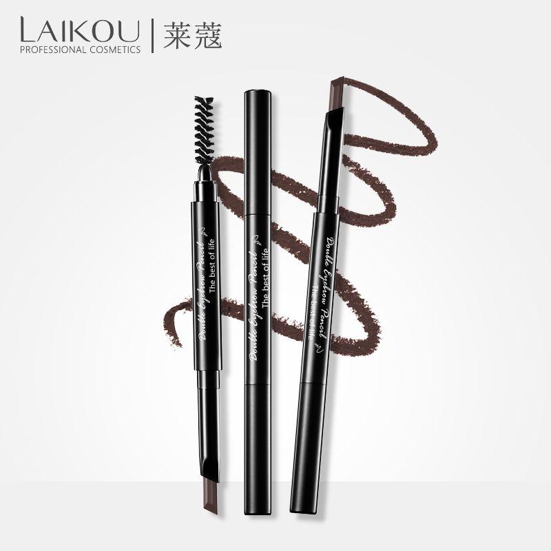 LAIKOU Brand Eyebrow Pencil & Brush Eyebrow Enhancer Long Lasting Makeup Korean Cosmetic Eye Waterproof  Make UP Tool Cosmetics