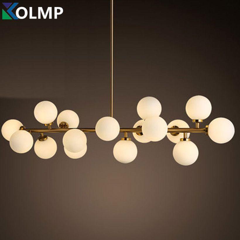 Kreative gold esszimmer kronleuchter Licht moderne glas ball hängen lampe leuchte suspension leuchte G4 LED AC 85- 265 V