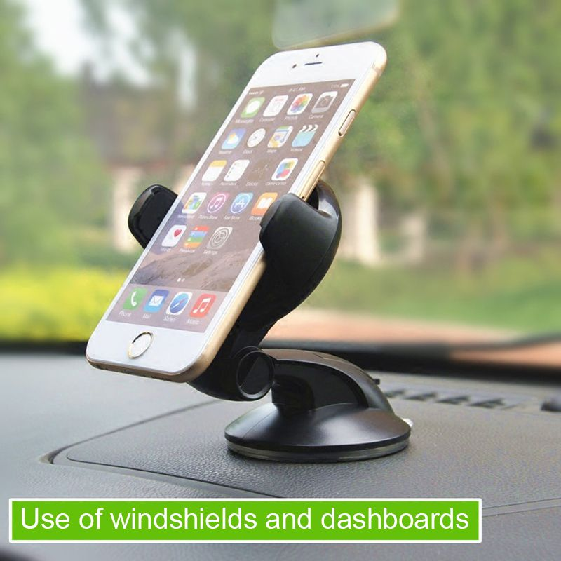 ESVNE Universal Car phone Holder for iphone 8 6 7 mobile phone support Dashboard Windshield 360 degree car holder cellular phone