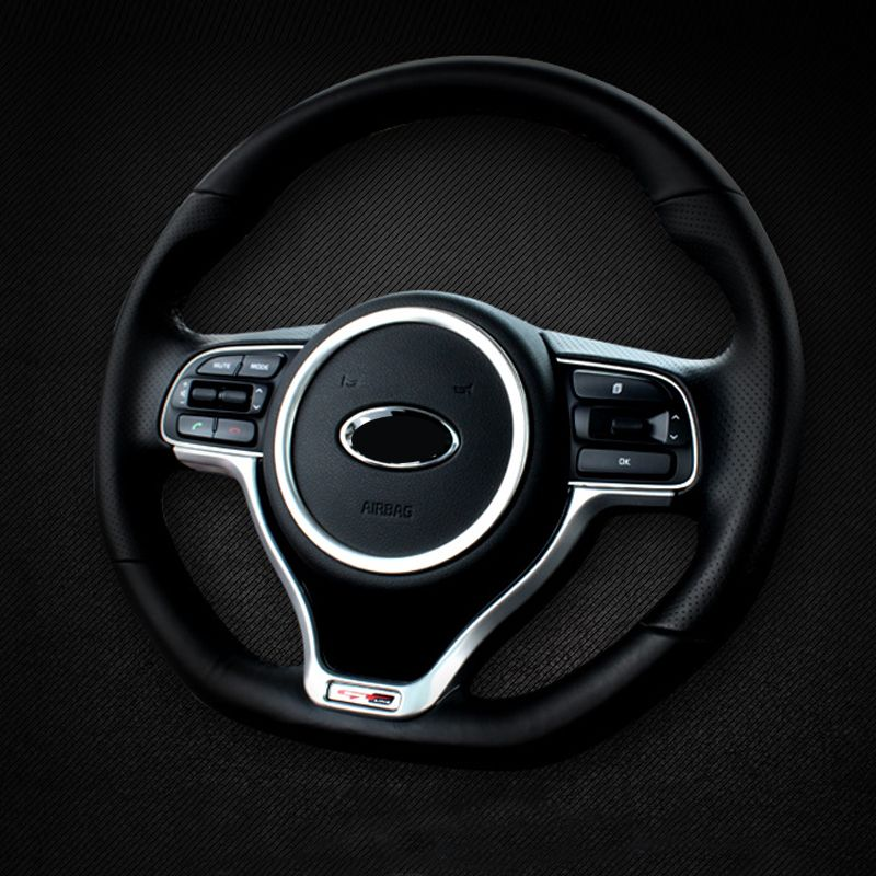 Voiture style volant cercle décoratif revêtement d'habillage intérieur moulures pour Kia Sportage 4 2016 2017 2018 2019 accessoires