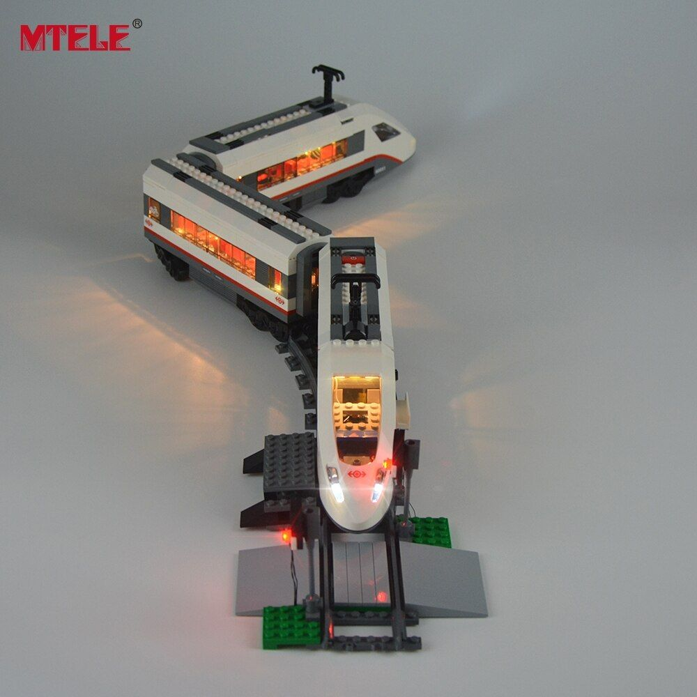 MTELE marque nouveauté kit d'éclairage LED pour Trains à grande vitesse modèle de passager ensemble d'éclairage Compatible avec Lego 60051