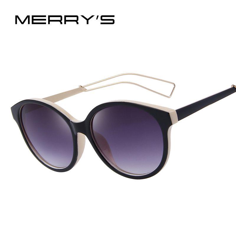 Merry's Для женщин ретро Овальный Защита от солнца Очки Брендовая Дизайнерская обувь антибликовым покрытием зеркало Защита от солнца Очки UV400