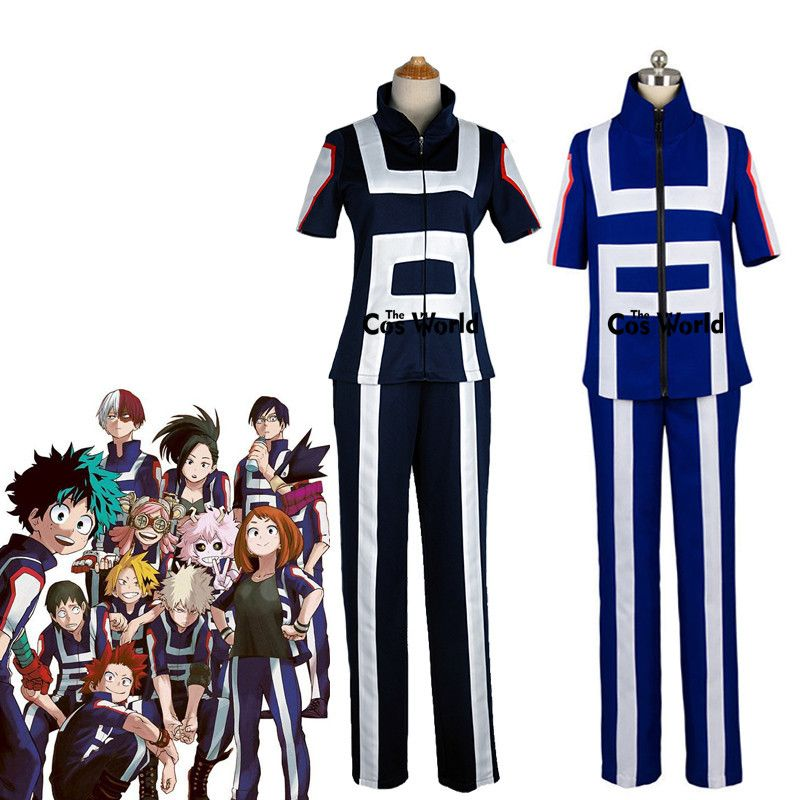 Boku No Hero Academia My Hero Academia All <font><b>Roles</b></font> Gym Suit High School Uniform Sports Wear Outfit Anime Cosplay Costumes