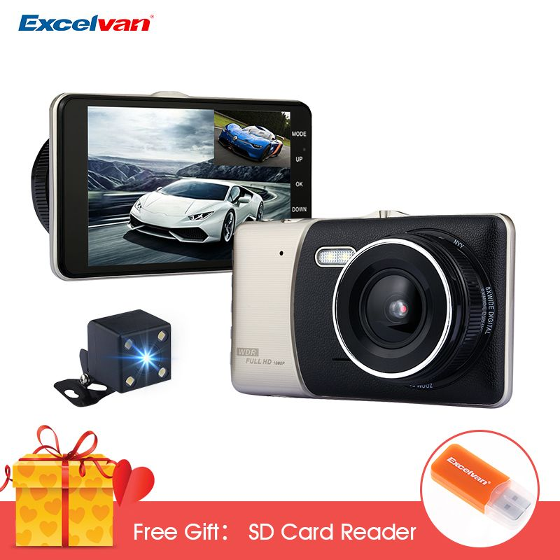 X5 4.0 Inch IPS Screen Car DVR Novatek NTK96658 Car Dash Camera Full HD 1080P Video 170 Degree Dash Cam with Rearview Camera