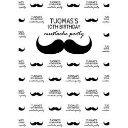 5x7ft Vinyl Photography Background Beard Handlebar Mustache Newborn Birthday Children Backdrop for Photo Studio PA-014