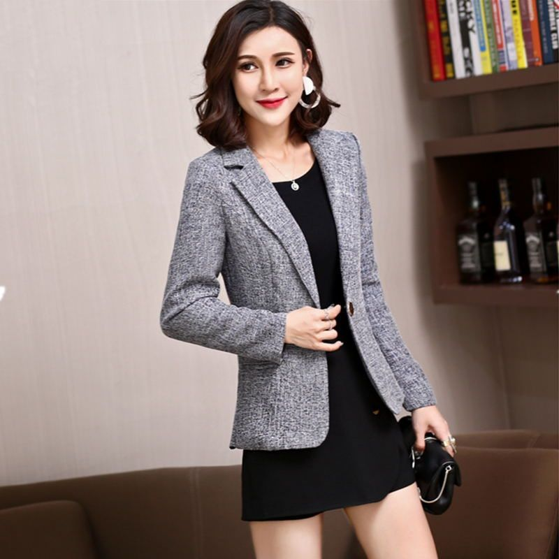 LANLOJER New Hot Stylish Comfortable Women's Blazers Long Sleeve Ladies Suit Office Jackets Work Wear Casual Female Coats 851#