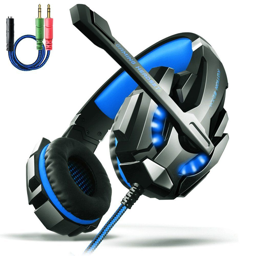 KOTION EACH G9000 Game Gaming Headphone Headset Earphone with 3.5mm Audio Jack Y Cable Adapter For Laptop Tablet / PS4 / Mobile